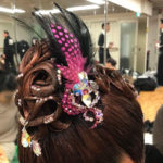 2/25 オーダー羽付き髪飾りのご着用写真を頂きました!(*^_^*)