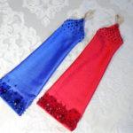 2/9 オーダー制作♪スワロが豪華な赤と青のグローブ!