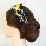 3/21 オーダー制作♪ドレスに合わせた黄色×黒の髪飾り✨